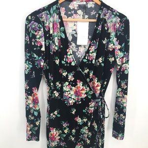 Zara Trafaluc Floral Wrap Dress
